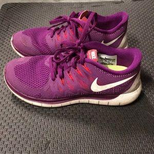 Purple Nike Free Run 5.0
